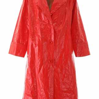 STAND LEXIE VINYL COAT 36 Red