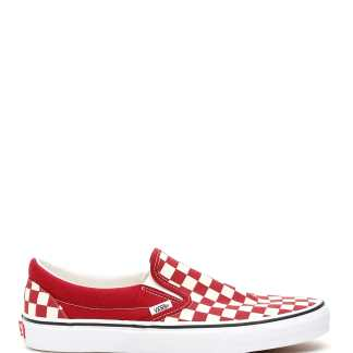 VANS CHECKERBOARD CLASSIC SLIP-ONS 4,5 White, Red, Beige Cotton