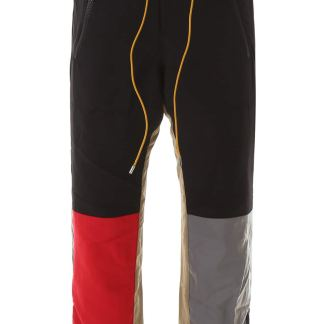 RHUDE COLOR BLOCK JOGGERS S Black, Red, Silver Technical
