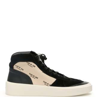 FEAR OF GOD STRAPLESS SKATE MID SNEAKERS 39 Black, Beige Leather