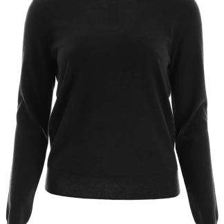 TORY BURCH BUTTONED CASHMERE PULL XS Black Cashmere