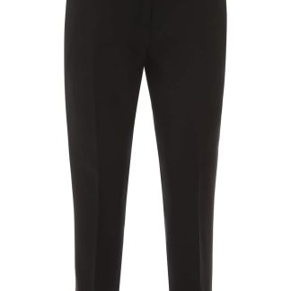 BURBERRY HANOVER TROUSERS 8 Black Wool