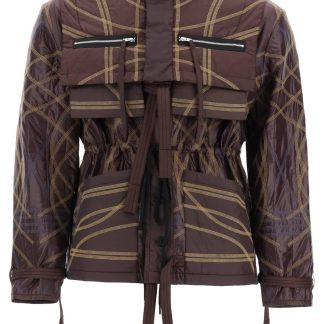 CRAIG GREEN EMBROIDERED NYLON JACKET M Brown, Blue, Beige Technical