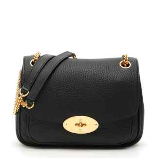 MULBERRY SMALL DARLEY SHOULDER BAG OS Black Leather