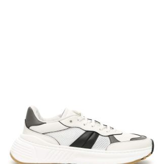 BOTTEGA VENETA SPEEDSTER SNEAKERS 40 White, Black, Grey Leather, Technical