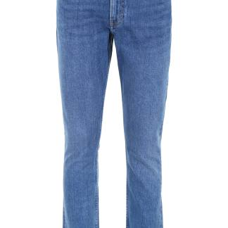 CALVIN KLEIN JEANS JEANS WITH EMBROIDERED LOGO 30 Blue Cotton, Denim