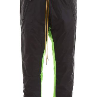RHUDE BICOLOR JOGGERS S Black, Green Technical