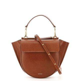 WANDLER HORTENSIA MINI LIZARD PRINT LEATHER BAG OS Brown Leather