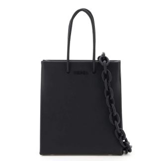 MEDEA SHORT PRIMA BAG WITH LEATHER CHAIN OS Black Leather