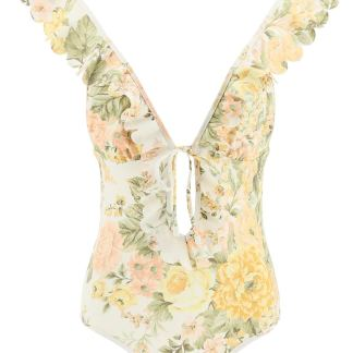 ZIMMERMANN FLORAL SWIMSUIT 2 Beige, Yellow, Pink