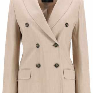 WEEKEND MAX MARA NAVILE WOOL BLAZER 40 Beige Wool