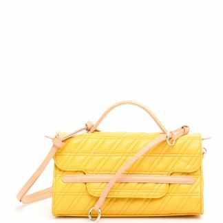ZANELLATO ZETA NINA S BAG OS Yellow, Beige Leather