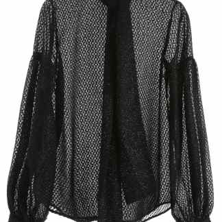 WANDERING LUREX SHIRT 42 Black, Metallic