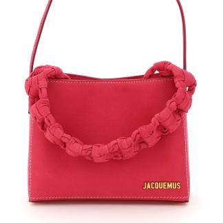 JACQUEMUS LE SAC NOEUD BAG OS Pink, Fuchsia Leather