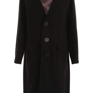 DSQUARED2 WOOL COAT 40 Black Wool