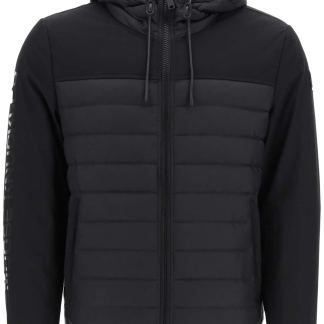 MOOSE KNUCKLES MOUNTRAY DOWN JACKET WITH LOGO S Black Technical