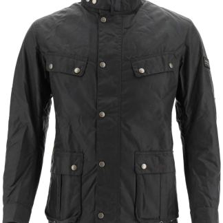 BARBOUR INTERNATIONAL DUKE JACKET IN WAXED COTTON S Brown, Green Cotton