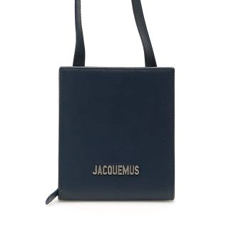 JACQUEMUS LE GADJO NECK WALLET OS Blue Leather
