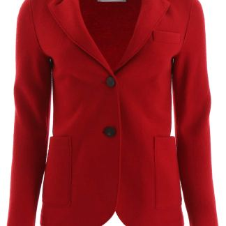 HARRIS WHARF LONDON SINGLE-BREASTED JACKET 40 Red Wool