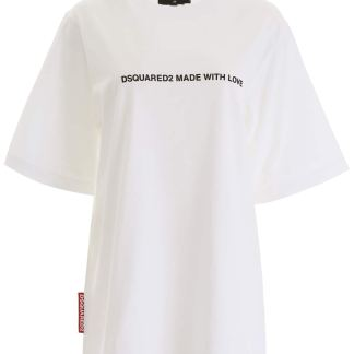 DSQUARED2 MADE WITH LOVE T-SHIRT XS White Cotton