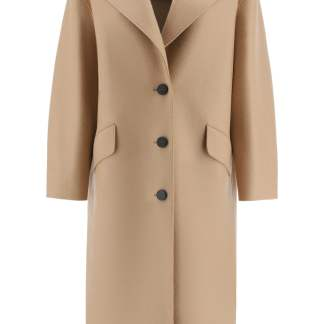 HARRIS WHARF LONDON LONG COAT 42 Beige, Brown Wool