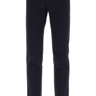 Z ZEGNA SLIM FIT CHINO TROUSERS 46 Blue Cotton