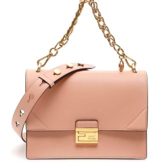 FENDI KAN U BAG OS Pink Leather