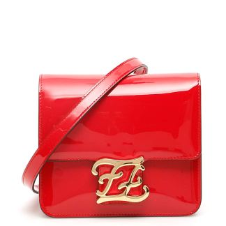 FENDI FF KARLIGRAPHY BAG OS Red Leather