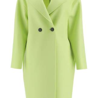 HARRIS WHARF LONDON DOUBLE WOOL COAT 42 Green Wool