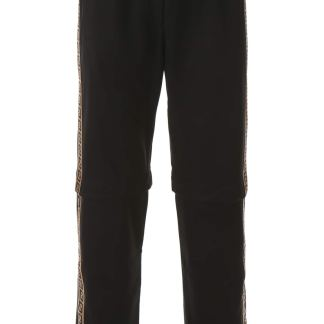 FENDI JOGGERS WITH DETACHABLE INSERTS 46 Black Technical