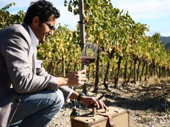 Tour Toscana, Federico Minghi vino e filari di viti