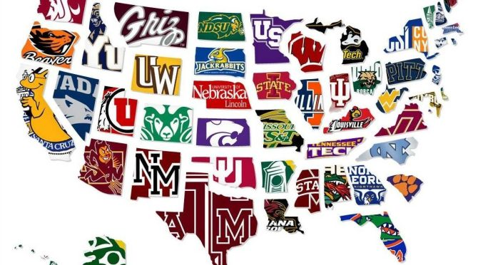 美國大學地圖