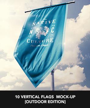9 Realistic 3D Flag Mock Up`s - 23