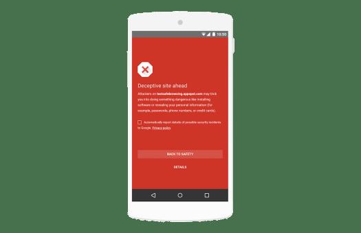 Safe browsing - transparent