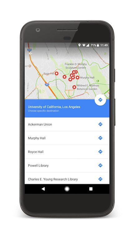 Discover your new campus with Google Maps