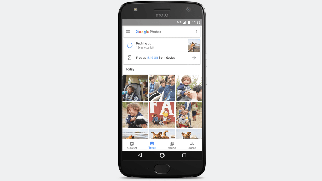 Unlimited storage from Google Photos