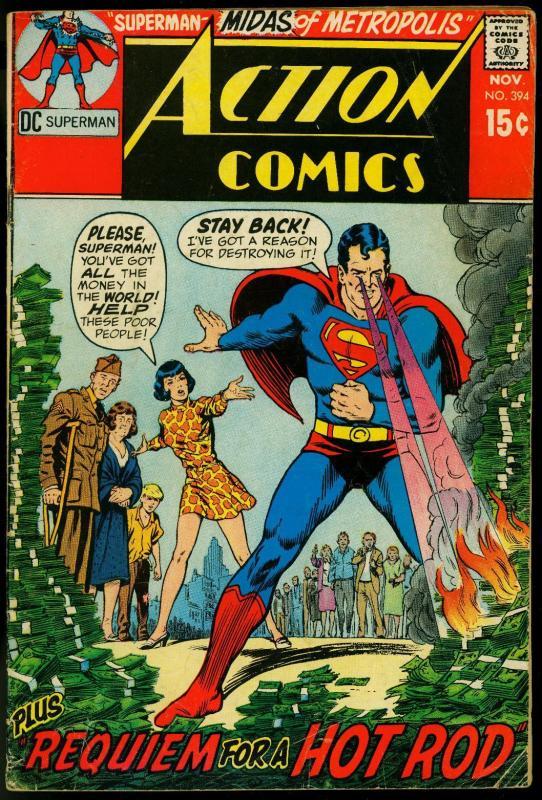 Action Comics #394 1970- Superman- DC Comics VG / HipComic