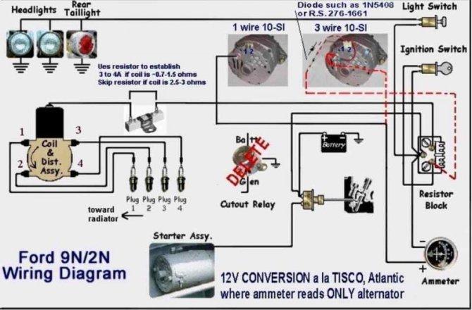 ford 9n 2n tractor 12v conversion wiring diagram 12 volt