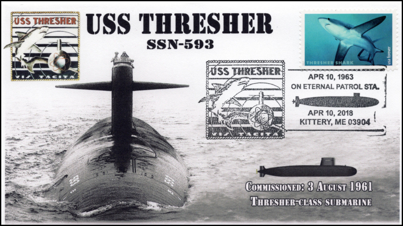18-134, 2018, uss thresher, ssn-593, pictorial, event cover