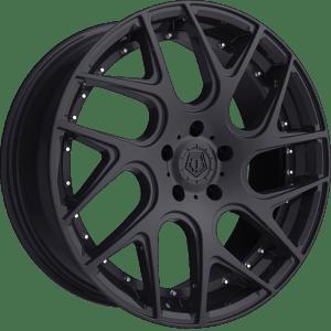 TIS 542B Gloss Black w/ Chrome Rivets