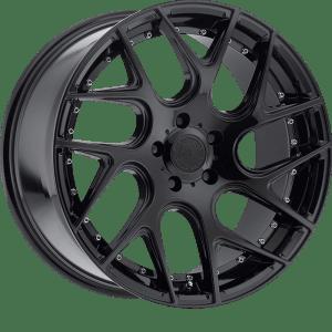 TIS 542MBT Gloss Black w/ Mirror Machined Spoke Tips