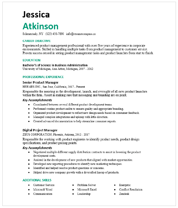 Seeking a project manager position in a rapidly growing technology company. Digital Project Manager Resume Sample Resumecompass