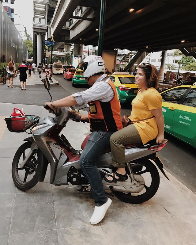 Motorcycle taxi is a convenient way to travel around Pattaya.