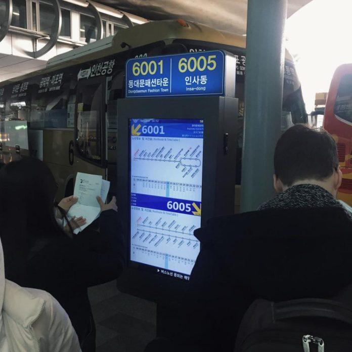 xe airport limousine đi từ sân bay incheon về seoul