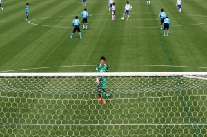 ゴールキックではなかなか起点にはなれなかったものの、好守で活躍した名良橋選手
