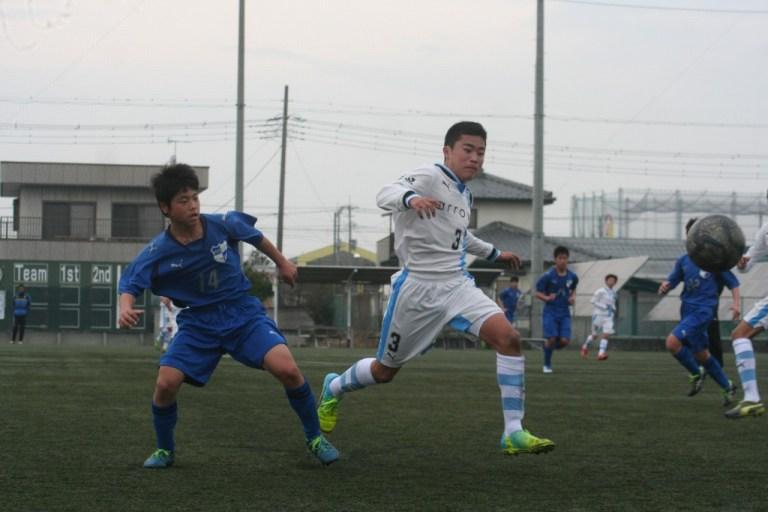 練習試合に出場した有山佑汰選手。背番号は3