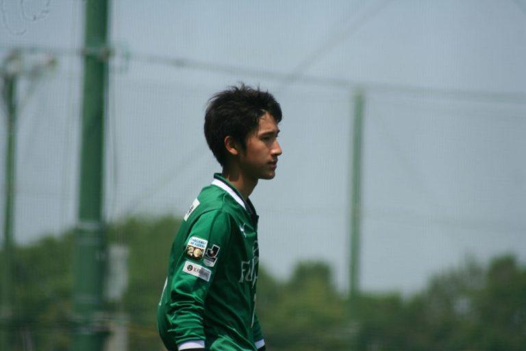安福祐一選手。この日はゲームキャプテンの役割も担った