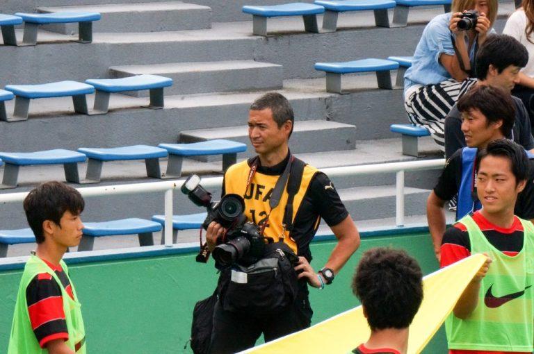 オフィシャルカメラマンの大堀優さんも選手たちの奮闘を撮影に訪れた