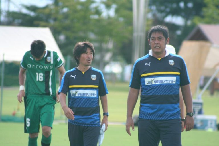 今野章監督、浦上壮史GKコーチ