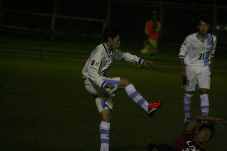 練習試合に出場した柴崎蒼選手